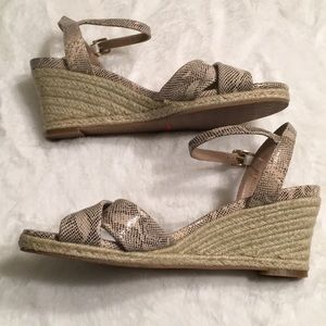 Cole Haan Nike Air snakeskin wedge size 8 medium